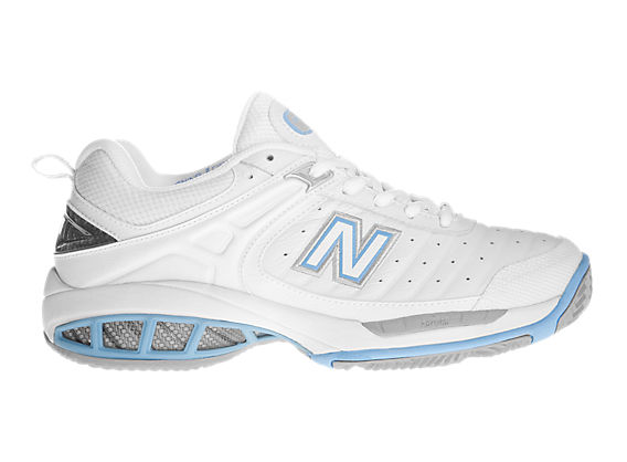 New Balance 804, White with Light Blue