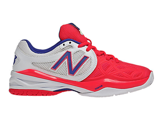 New Balance 996, White with Neon Pink & Blue
