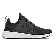 Womens Fresh Foam Cruz Sport, Black with Thunder & White