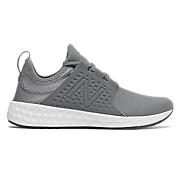 Womens Fresh Foam Cruz Sport, Gunmetal with Thunder & White