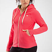 Essentials Full Zip Hoodie, Diva Pink with Paradise Green