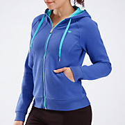 Essentials Full Zip Hoodie, Dazzling Blue with Blue Atoll