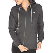 Essentials Full Zip Hoodie, Heather Charc
