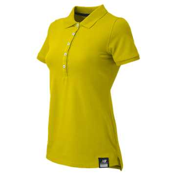 New Balance Essential Polo, Lemon Drop