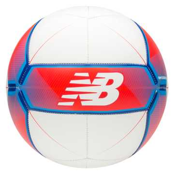 New Balance Furon Dispatch Ball, White with Flame & Ocean Blue