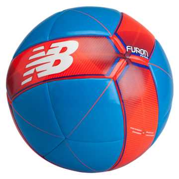 New Balance Furon Futsal Ball, Bolt with Flame & Ocean Blue