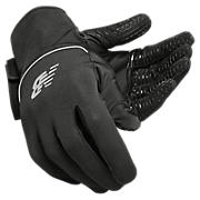 Team Field Player Glove, Black with Silver