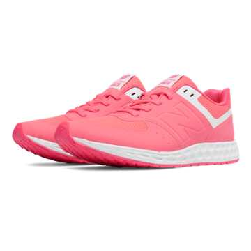 New Balance 574 Fresh Foam, Bright Cherry with White