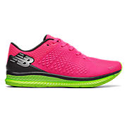 New Balance FuelCell, Alpha Pink with Lime Glo