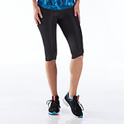 Ultimate Knee Capri, Black with Dazzling Blue