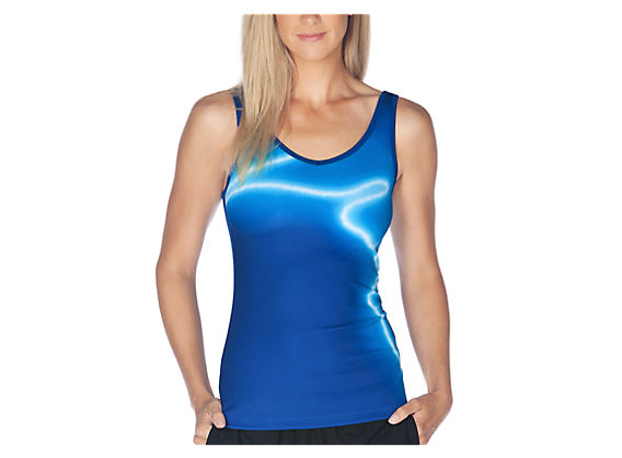 Go Anywhere Tank, True Blue with White