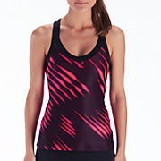 Get Back Racerback, Black with Diva Pink