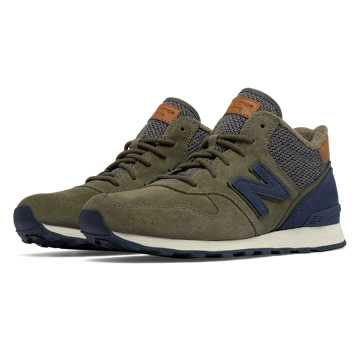 New Balance 696 Mid-Cut, Pine with Thunder
