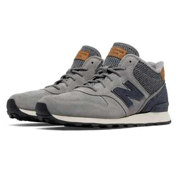 New Balance 696 Mid-Cut, Steel with Thunder