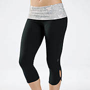 Zen Capri, Grey with Black