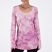 Long Sleeve Tunic Top, Spring Crocus