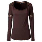 Dolman Longsleeve Tunic, Coffee Bean