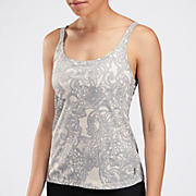 Zen Cami, Grey with White