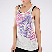 Liv Tank, White with Purple & Pink