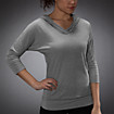 HKNB Fashion Top, Athletic Grey