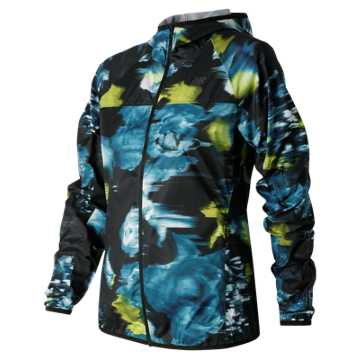 New Balance Urban Floral Windcheater Jacket, Galaxy with Firefly & Castaway