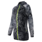 NB Print Woven Packable Jacket, Negro