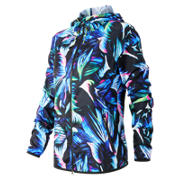 New Balance Night Floral Windcheater Hybrid Jacket, Bayside with Black & Sonar