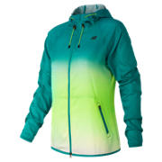 New Balance Windcheater Hybrid Jacket, Toxic with Galapagos