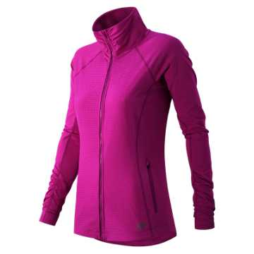 New Balance Mixed Media En Route Jacket, Azalea