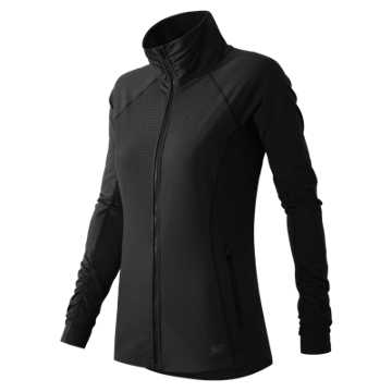New Balance Mixed Media En Route Jacket, Black