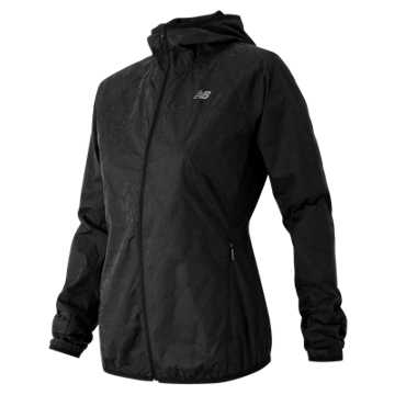 New Balance Reflective Windcheater Jacket, Black