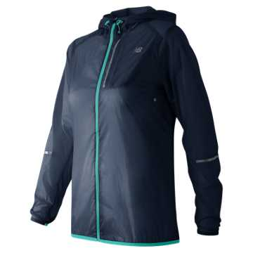 New Balance Lite Packable Jacket, Galaxy with Aquarius