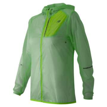 New Balance Lite Packable Jacket, Seafoam with Toxic
