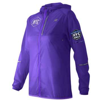 New Balance United NYC Half Packable Jacket, Deep Violet