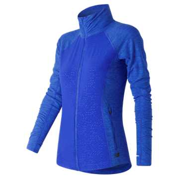 New Balance Mixed Media En Route Jacket, Bluefin Heather