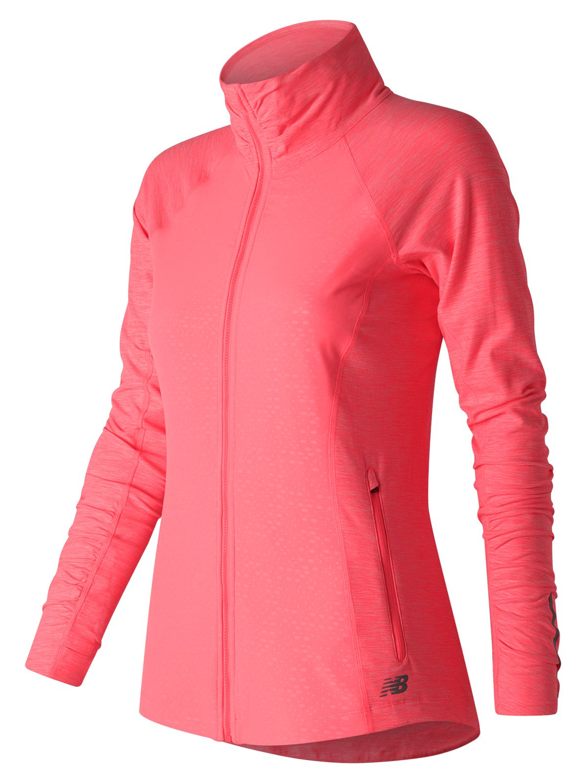 New Balance Women's Mixed Media En Route Jacket Pink