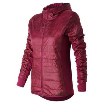 New Balance NB Heat Hybrid Jacket, Jewel Feather Print
