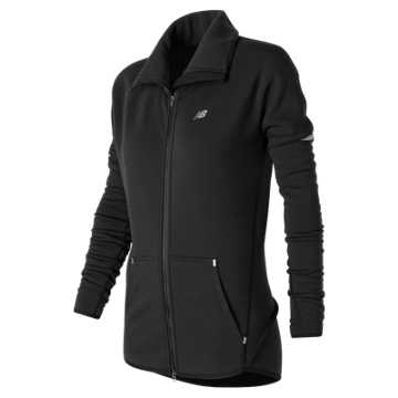 New Balance Performance Merino Fashion Jacket, Black