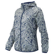 NB J.Crew Windcheater Jacket, Navy with Silver Paisley