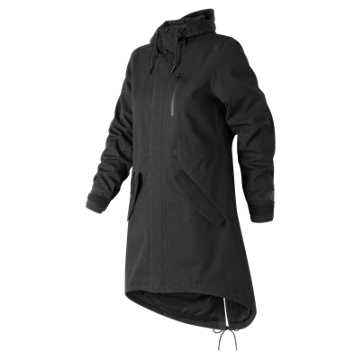 New Balance Womens Drop Tail Jacket, Black