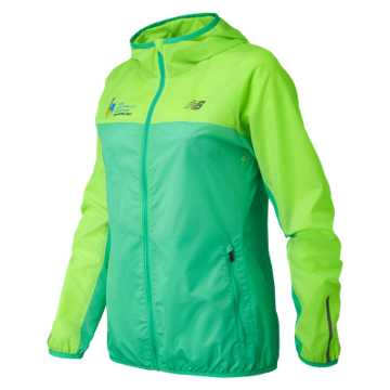 New Balance NYC Marathon Training Jacket, Lime Glo