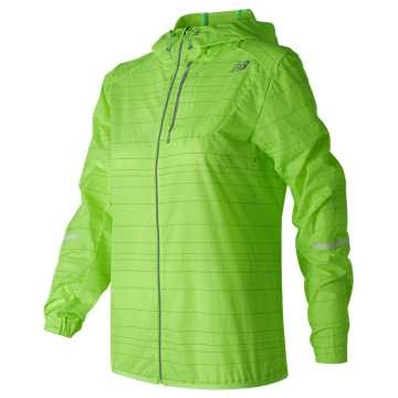 New Balance Reflective Light Packable Jacket, Lime Glo