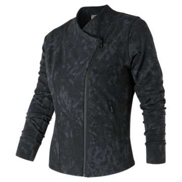 New Balance Printed Bomber Jacket, Outerspace Distressed Floral