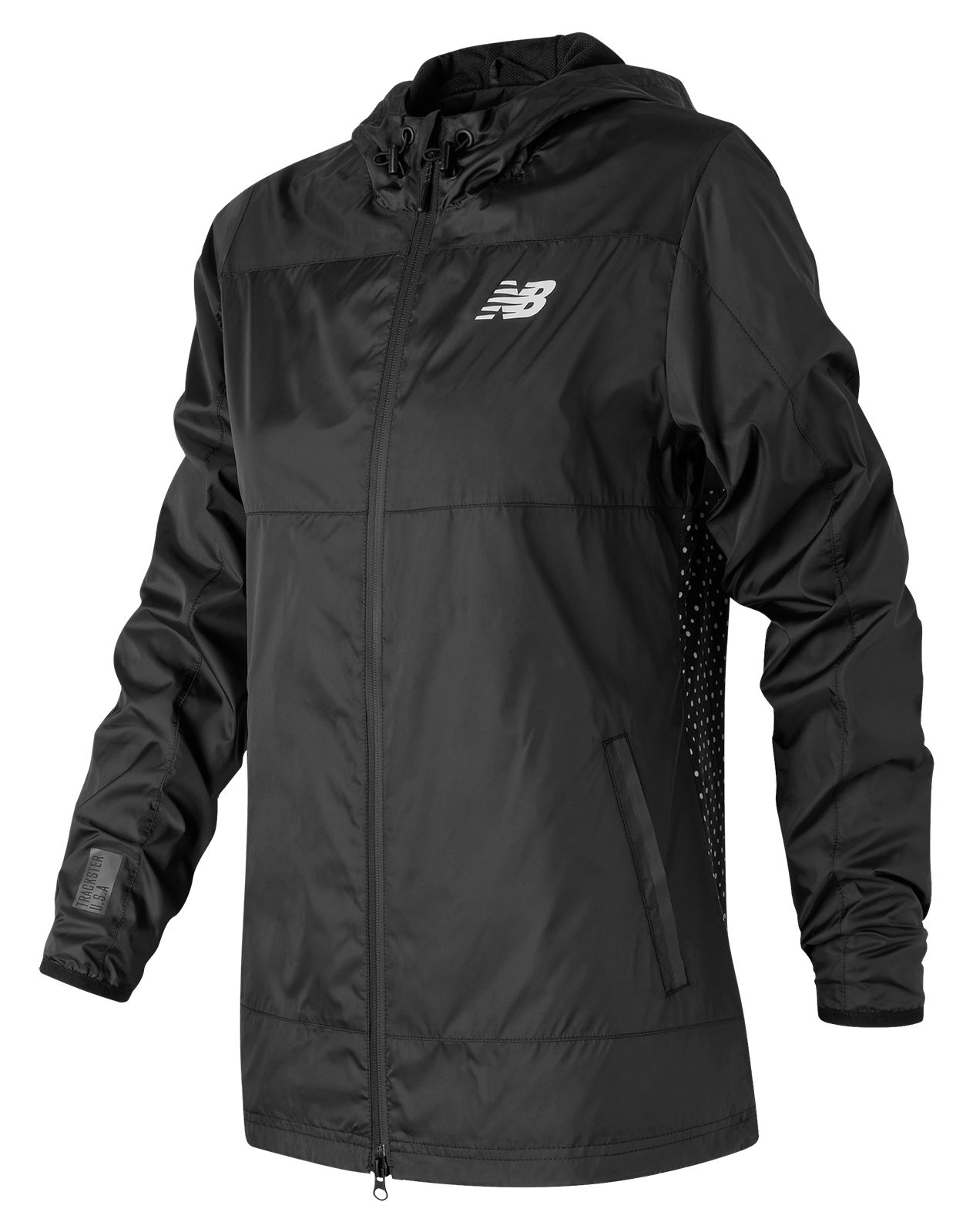 New Balance : Trackster Woven Jacket : Women's Casual : WJ71620BK