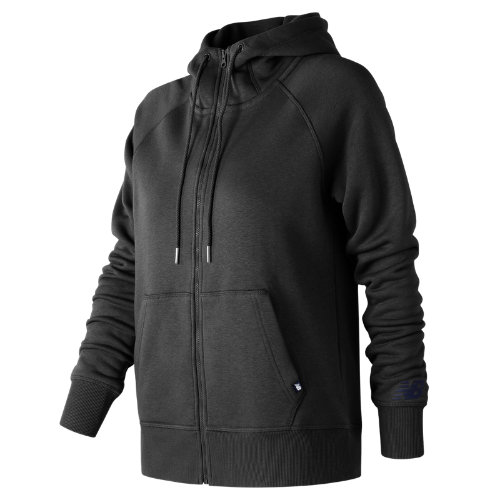 New Balance : Essentials Full Zip Hoodie : Women's Casual : WJ73520BK