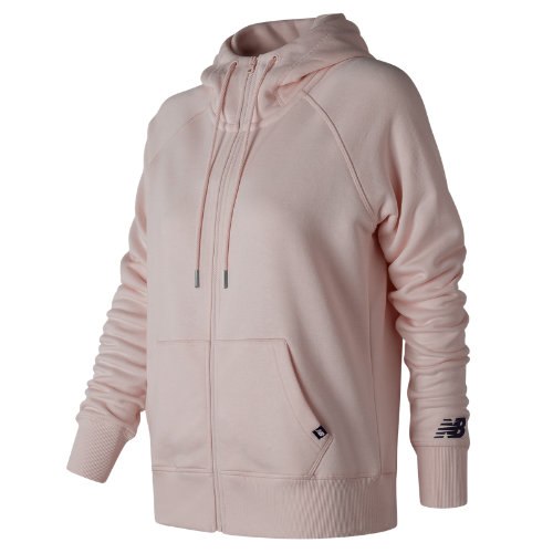 New Balance Essentials Full Zip Hoodie Girl's All Clothing - WJ73520FDR