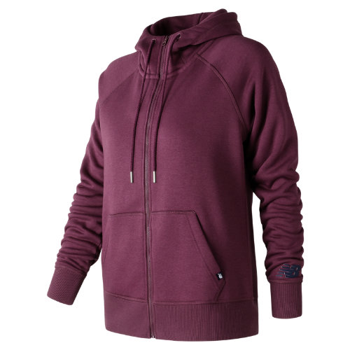 New Balance Essentials Full Zip Hoodie Girl's All Clothing - WJ73520WNS