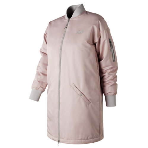 New Balance 247 Luxe MA1 Flight Jacket Girl's All Clothing - WJ73543FDR