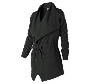뉴발란스 우먼 스튜디오 타이 웨이스트 자켓 블랙 New Balance Womens Studio Tie Waist Jacket, Black, WJ83472BK