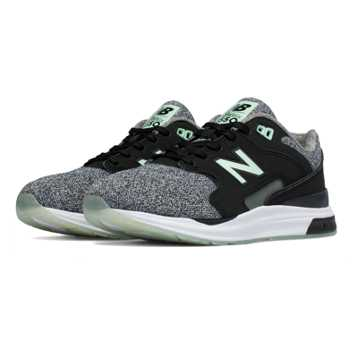 New Balance 1550 Sirens, Black with Seafoam